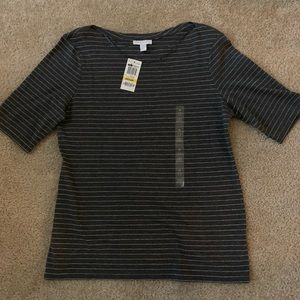 NWT Charter Club Elbow Sleeve Boatneck (Size M)